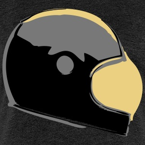 Retro Cafe Racer Helmet - Women's Premium T-Shirt