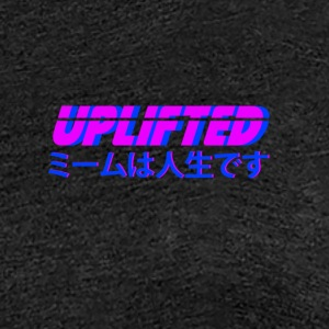 Uplifted with japanese lettering - Women's Premium T-Shirt