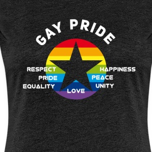 gay_star Pride asterisk love Respect proud cs - Women's Premium T-Shirt