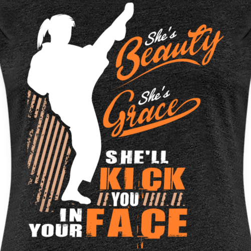 Shes Beauty Shes Grace - Frauen Premium T-Shirt