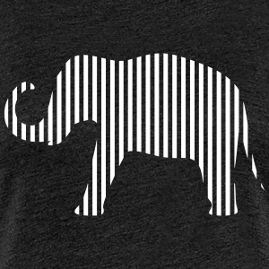 Elephant in strips - Women's Premium T-Shirt