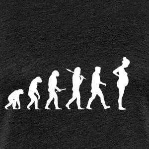 Evolution Gravide! Child! Graviditet! Baby! - Dame premium T-shirt
