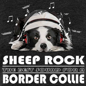BORDER COLLIE SHEEP ROCK - Women's Premium T-Shirt