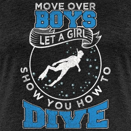 Girl Snorkeling Diving - Frauen Premium T-Shirt