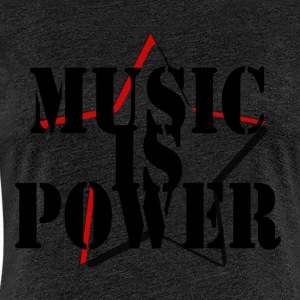 Music is Power - Women's Premium T-Shirt