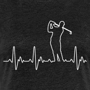 Heart of Golf - Premium-T-shirt dam