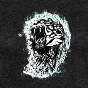 tiger lion wild bit cool blood king chef strange L - Women's Premium T-Shirt