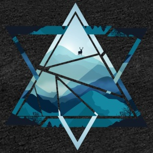 Triangle mountains with deer - Women's Premium T-Shirt