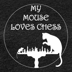 My mouse loves Chess - Frauen Premium T-Shirt