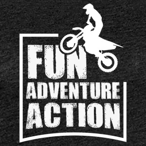Enduro FUN ADVENTURE ACTION - Women's Premium T-Shirt