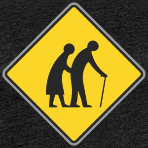 Road sign Old people - Women's Premium T-Shirt