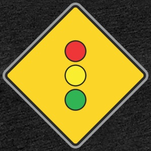 Road Sign lights yellow - Women's Premium T-Shirt