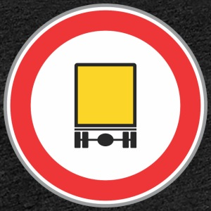 Road sign yellow truck - Women's Premium T-Shirt