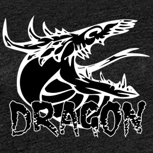 snake tongue dragon black - Women's Premium T-Shirt