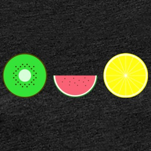 DIGITAL FRUITS - Hipster KIWI MELONE ZITRONE - Frauen Premium T-Shirt