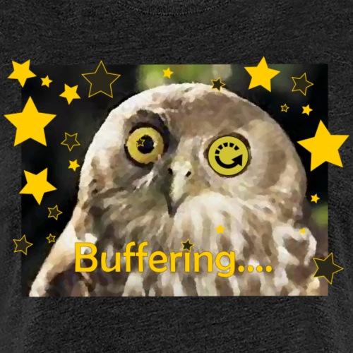 Buffering Owl - Women's Premium T-Shirt