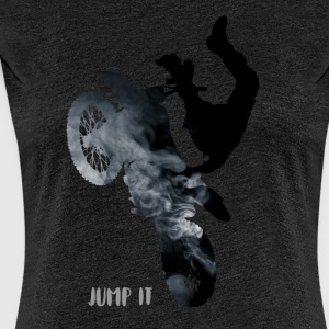 bike-jump stunt Cross Enduro motorcycle jump black - Women's Premium T-Shirt
