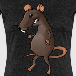 Fiese Ratte Nager Maus Ungeziefer Nagetier - Frauen Premium T-Shirt