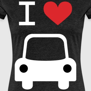 I love Car - Frauen Premium T-Shirt