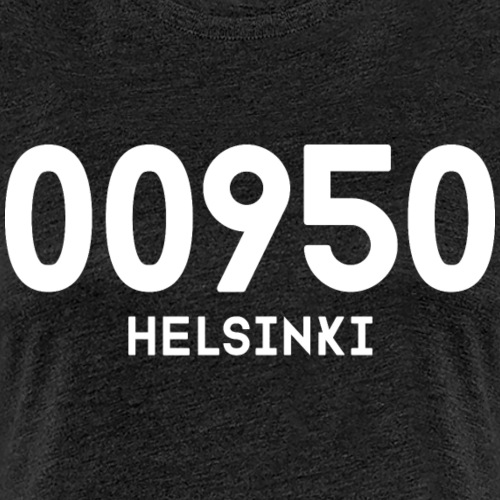 00950 HELSINKI - Naisten premium t-paita
