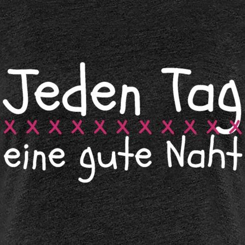 Lustiger Spruch Nähmaschine Nähen Mama Geschenk - Frauen Premium T-Shirt