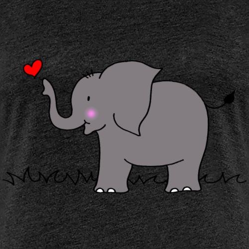 Elefant mit Herz - Frauen Premium T-Shirt