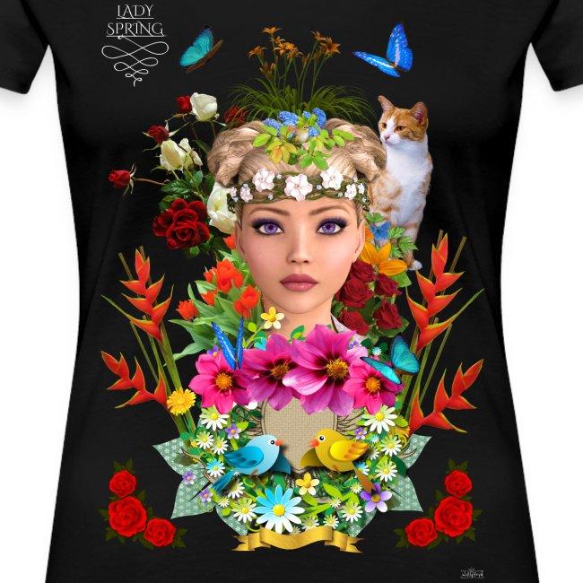 Lady spring by t-shirt chic et choc (dark & black)
