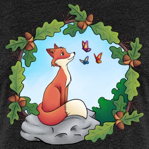 Fuchs und Schmetterlinge - Frauen Premium T-Shirt