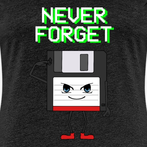 Never Forget Floppy Disk Salute - Dame premium T-shirt