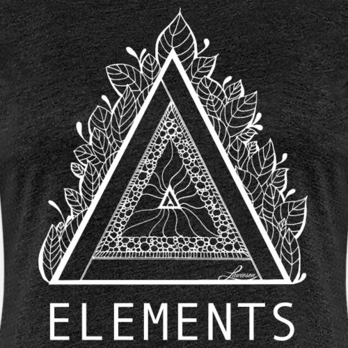 Elements Weiß - Frauen Premium T-Shirt