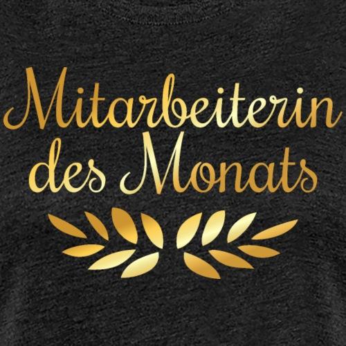 Mitarbeiterin des Monats Lorbeerkranz (Goldgelb) - Frauen Premium T-Shirt