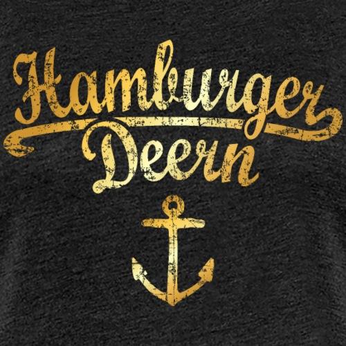 Hamburger Deern Klassik (Vintage Goldgelb) - Frauen Premium T-Shirt