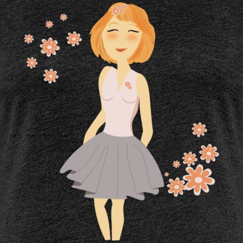 fille rousse - T-shirt Premium Femme