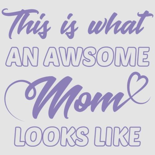 Awsome mom-Lavendel tryck