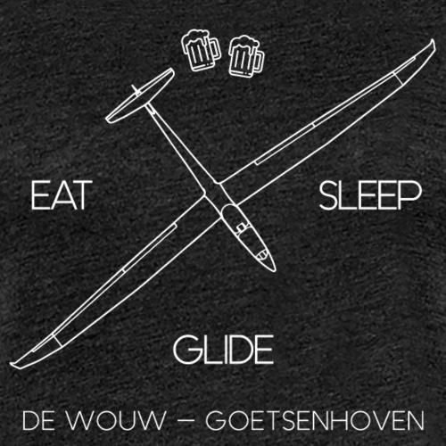Eat Sleep Glide De Wouw - Vrouwen Premium T-shirt