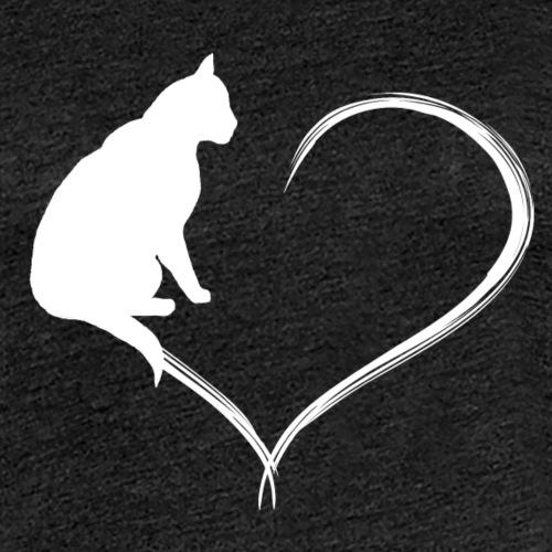 Coeur de chat blanc