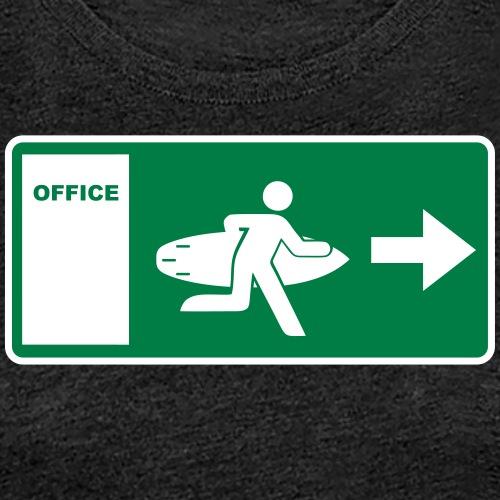 office escape surf - Frauen Premium T-Shirt