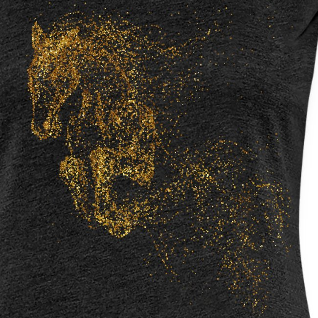 Vorschau: jumping horse gold - Frauen Premium T-Shirt