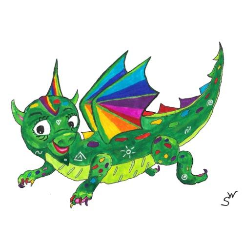 happy dragon - Frauen Premium T-Shirt
