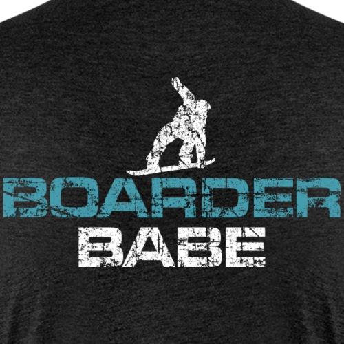 Boarder Babe Vintage White/Blue - Frauen Premium T-Shirt