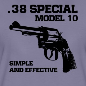 38 Specialmodel 10 revolver fan t-shirt - Dame premium T-shirt