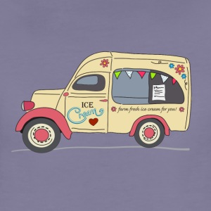 vintage ice cream van - Women's Premium T-Shirt