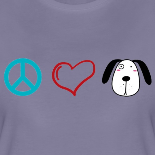 Hunde Liebe, Peace Love and Dogs - Frauen Premium T-Shirt