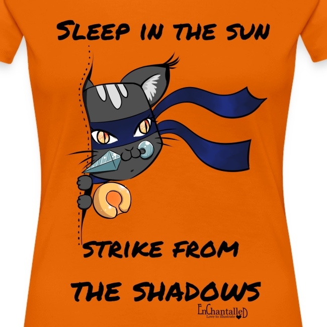Ninja Cat gluurt vanuit shirt EnChantalled png