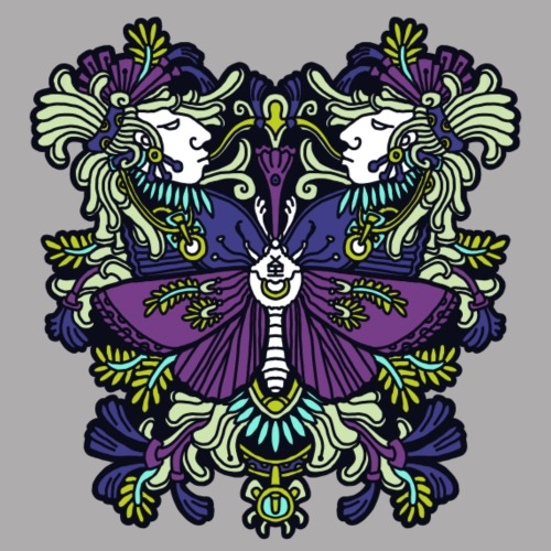 moth - Women's Premium T-Shirt