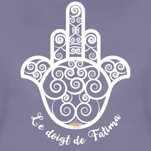 Khmissa - Le doigt de Fatima (design blanc) - T-shirt Premium Femme