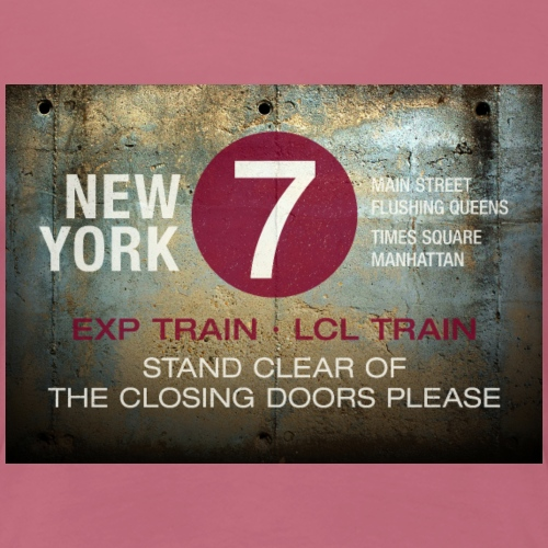 NYC subway stand clear of the closing doors please - Women's Premium T-Shirt
