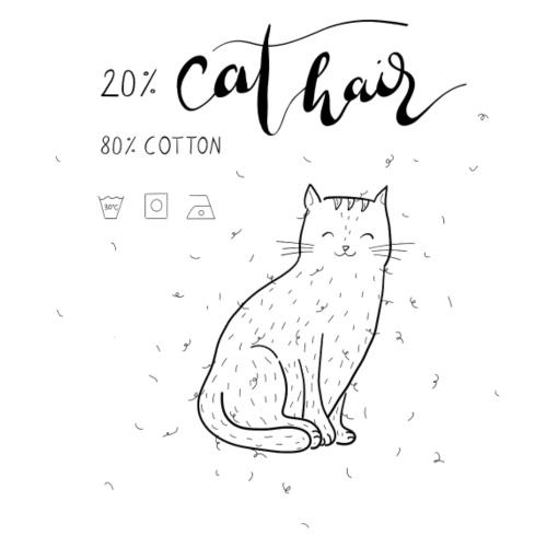 20% Cat Hair - Frauen Premium T-Shirt