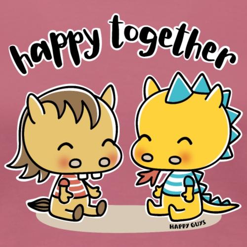 Happy Together - Pferd und Drache - Frauen Premium T-Shirt