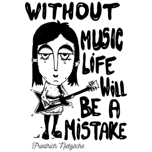 without music life will be a mistake - Women's Premium T-Shirt
